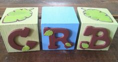 Just Monkeying Around 2 inch Wooden Baby/Name Blocks by ThisThatbyChristine, $6.00