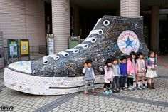 Would so like a picture with this!!! Coverse shoe in Tokyo
