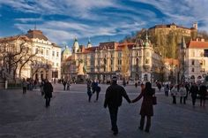Springtime in Ljubljana, Slovenia Slovenia Ljubljana, Countries Of The World, Spring Time, Most Beautiful, Louvre, Street View, Park, City, Building