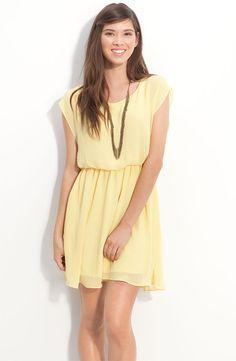 Yellow Casual Bridesmaid Dress