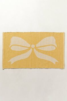 Bows in the Bathroom !  Bowed Jacquard Bathmat  #anthropologie