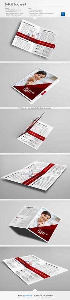 Brochure template #design #inspiration | from www.behance.net/gallery/Bi-Fold-Brochure-4/10990729