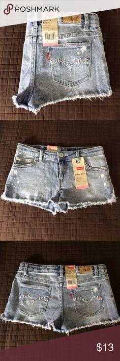 Girls Levis Shorts Girls Levis acid wash shorty shorts with adjustable waist. Originally $38. Levi's Bottoms Shorts