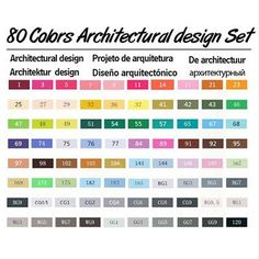 30/40/60/80 Colors Drawing Marker Pen Design Artist Dual Head Sketch Copic Markers