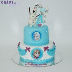 Frozen - Olaf - Grãos de Açúcar - Bolos decorados - Cake Design