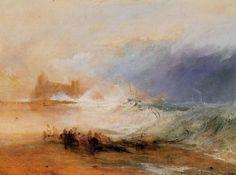 Turner, Joseph Mallord William: Strandräuber, – Northumberland Küste, mit einem Dampfboot, das einem Schiff vor der Küste hilft (Wreckers, – Coast of Northumberland, with a Steam-Boat assisting a Ship off Shore)