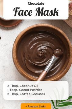 Diy Lip Mask, Diy Face Mask, Glowing Face Mask, Chocolate Face Mask, Natural Skin Care, Natural Beauty, Natural Face Masks, Hydrating Mask, Diy Skin Care