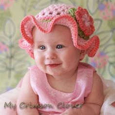 Custom Order Baby Tea Party Hat You choose color and size Newborn to 4T. $22.95, via Etsy.