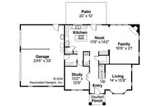 European House Plan - Gerabaldi 30-543 - 1st Floor Plan by Associated Designs