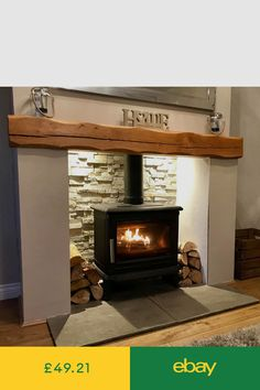 Mantelpieces & Surrounds Home Furniture & DIY Wood Stove Hearth, Wood Burner Fireplace, Cosy Fireplace, Cottage Fireplace, Dining Room Fireplace, Inglenook Fireplace, Brick Fireplace, Fireplace Surrounds, Fireplace Design