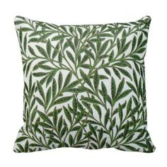 Green leaf jungle pattern throw pillow #throwpillows #homedecor Visit our store to see our full collection www.prettythrowpillows.com