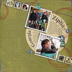 Zipline Georgia Digital Scrapbooking Layout by Christy VanderWall