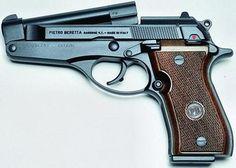 9mm | Beretta model 86, 9mm Short, tip-up barrel is opened.