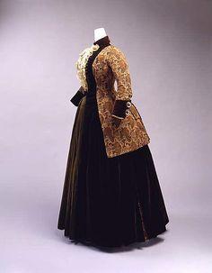 Dress  Josephine Egan  Date: 1880 Culture: American Medium: silk, metal thread