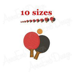 7cf39b846 Ping pong embroidery Design. Machine Embroidery designs. Ping pong  Silhouette. Sport Design. Mini Pi