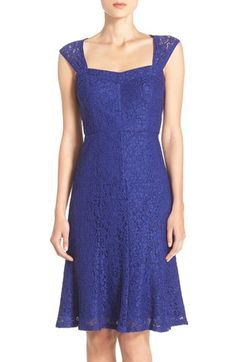 Adrianna Papell Embroidered Lace Fit & Flare Dress available at #Nordstrom