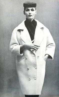 1953 - Georgia Hamilton in coat by Balenciaga, photo by Richard Avedon, Harper's Bazaar, Sept. 1953