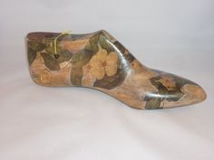 Vintage shoe last with decoupage decorations by eleles on Etsy, £65.00
