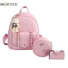 Women Backpack Teenage Girls PU Leather Shouder School Backpack mochilas mujer 2018 Mochila Feminina sold by Zly's Shop. Shop more products from Zly's Shop on Storenvy, the home of independent small businesses all over the world. Backpack Bags, Leather Backpack, Fashion Backpack, Pu Leather, Travel Backpack, Small Backpack, School Bags For Girls, Girls Bags, Kit Mochila