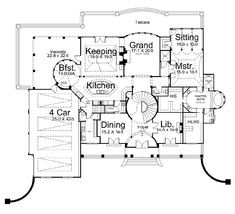 1st Floor Plan image of Featured House Plan: PBH - 6016