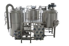 3 Vessel Brewhouse Brewery Equipment, Home Brewing Equipment, How To Make Moonshine, Beer Factory, Beer Brewery, Micro House, How To Make Beer, Frame, Mini