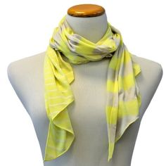 Yellow & Beige Striped Asymmetrical Lightweight Scarf Luxury Divas,http://www.amazon.com/dp/B00BWTJCZM/ref=cm_sw_r_pi_dp_uubBrb90A8DD4985