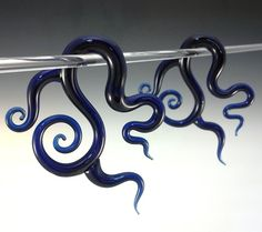 DREAMCATCHER Glass Shapes Ear Plug Gauges Borosilicate Pyrex spiral 8g,6g,4g,2g,1g,0g,00g on Etsy, $74.07 CAD
