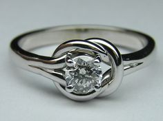 European Engagement Ring - Love Knot Solitaire Engagement Ring 0.25 Carat - ER40 by Heidi-Vogel
