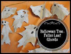 Simple leaf ghosts for #Halloween tree  #kidscraft