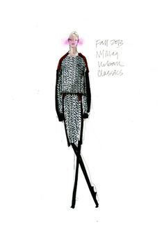 DKNY sketch Fall 2013, from Fashion's Mood Board: 133 Designer Inspirations for Fall 2013 - The Cut