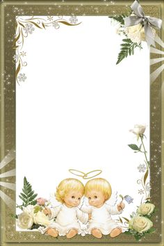 Beautiful Transparent Photo Frame with Angels