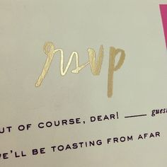 """I like these RSVP options: """"But of course, dear"""" or """"We'll be toasting from afar."""" Very sweet!"""