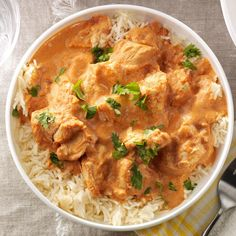 Chicken Tikka Masala Recipe -This Indian-style entree has flavors that keep me coming back for more—a simple dish spiced with garam masala, cumin and gingerroot that's simply amazing. —Jaclyn Bell, Logan, Utah
