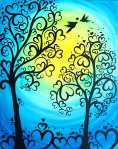 Blue Forest Of Love at Miller's Ale House KENDALL - Paint Nite Events