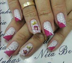 Nail Designs, Make Up, Nails, Beauty, Mary, Rose Nails, Nice Nails, Nail Design, Pretty Nails