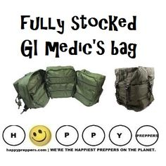 Here's a fully stocked G.I. Medic's bag that's ready for combat wounds and much more: http://happypreppers.com/medic-kit.html #preppertalk #survival