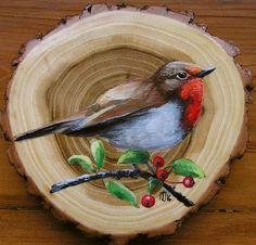 Wood Painting Art, Pallet Painting, Country Paintings, Nature Paintings, Bois Intarsia, Madhubani Painting, Wooden Art, Bird Art, Beautiful Birds