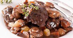 Beef Bourguignon Recipe from Mamma's Recipes Crock Pot Recipes, Crockpot Dishes, Crock Pot Cooking, Beef Dishes, Meat Recipes, Food Dishes, Slow Cooker Recipes, Cooking Recipes, Main Dishes