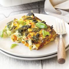 Low-FODMAP savoury vegetable frittata | Healthy Food Guide