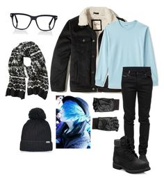 """""""Untitled #454"""" by iballisticredhead on Polyvore featuring Hollister Co., Lands' End, County Of Milan, Timberland, Hilts Willard, Converse, Banana Republic, Tom Ford, men's fashion and menswear"""