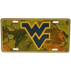 NCAA West Virginia Mountaineers Car Tag Camo * See this great product.Note:It is affiliate link to Amazon.