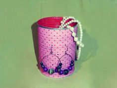 Tin can jewelry holder!