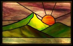 stained glass sunset - Google Search