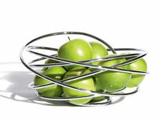 Black Blum 'Fruit Loop' Fruit Bowl Holder Chrome Modern Abstract ...