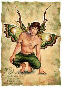Rusty green boy fairy