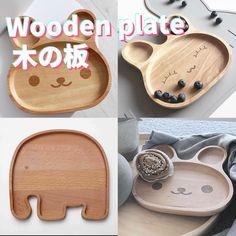 Cute Rabbit Plate Baby Toddler Natural Beech Divider Plate BPA Free Eco