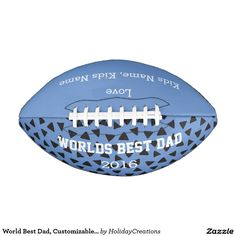 World Best Dad, Customizable Football Gift, JOIN ALL ABOARD