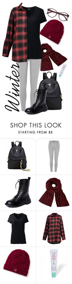 """""""Seasons in Australia: Winter"""" by aylaclaire13 ❤ liked on Polyvore featuring River Island, John Lewis, Lands' End, EyeBuyDirect.com and plus size clothing"""