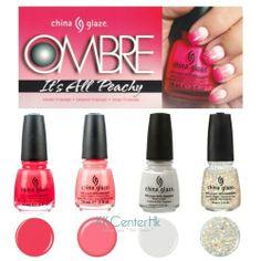 China Glaze OMBRE-It's All Peachy Set with 10 Pcs Sponges KKcenterHk