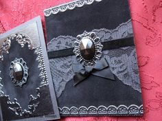 Gothic Greeting Cards  Black Velvet Neo Victorian Mourning by ImmortalVisions on Etsy, $21.00
